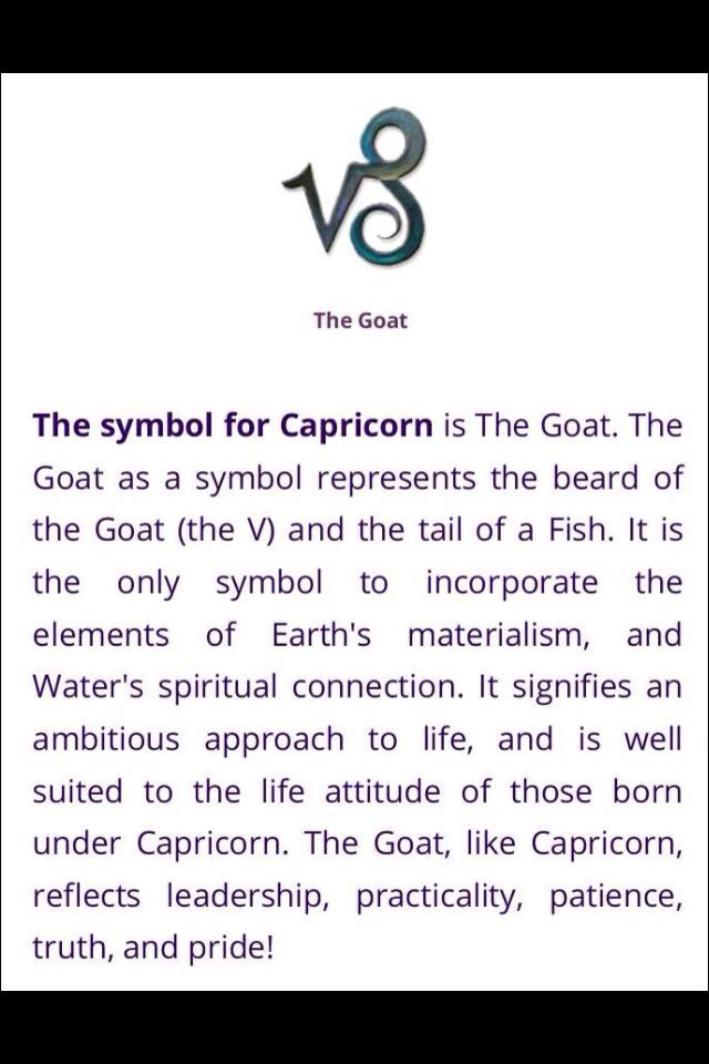 The symbol for Capricorn.