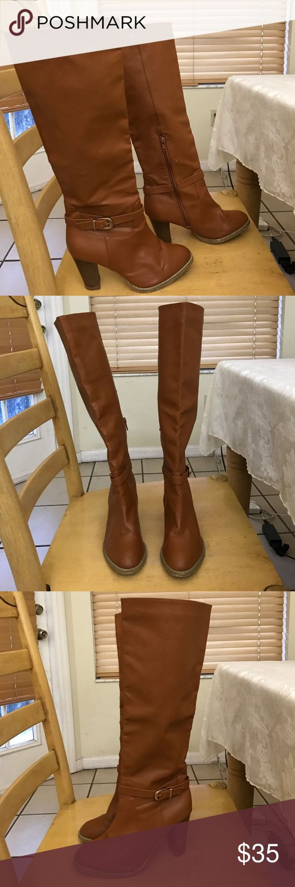 Used Tan Knee High Boots Gently Used H&M Tan Knee High Boots. Great condition. Women's size 5 H&M Shoes Heeled Boots