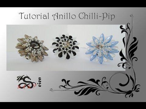 En este vídeo os traigo un tutorial para realizar un anillo con chilli y pip beads. Es bastante rápido de realizar, espero que os guste. Mi ezebee: http://ww...