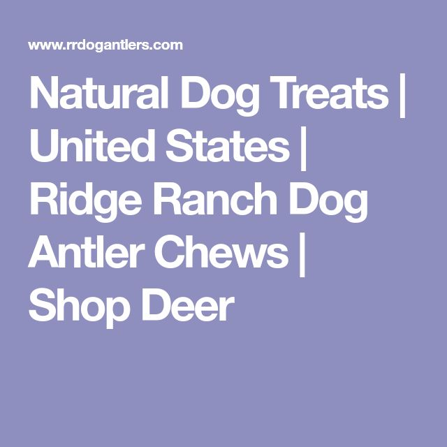 Natural Dog Treats   United States   Ridge Ranch Dog Antler Chews   Shop Deer