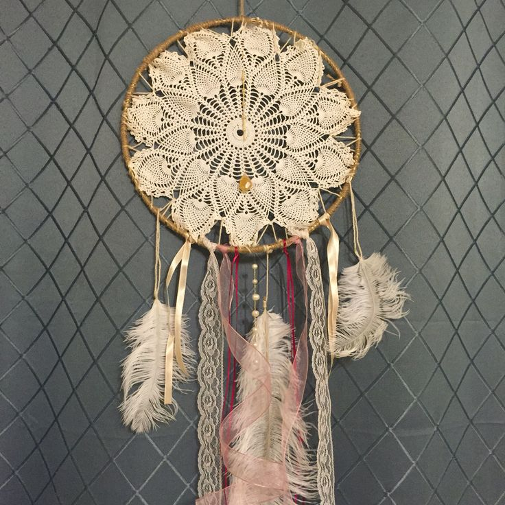 Hopefully beautiful dreams will be caught in this dream catcher!!!