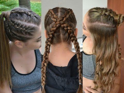 3 Peinados Deportivos con trenzas ♥ Belleza sin Limites - YouTube