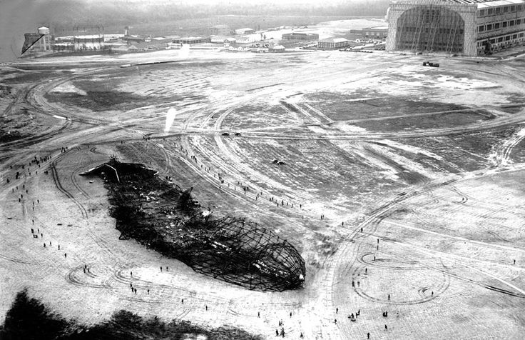 Hindenburg Wreckage: History, Photos, 1937, Hindenburg Airship, Aerial View, 75 Years, New Jersey