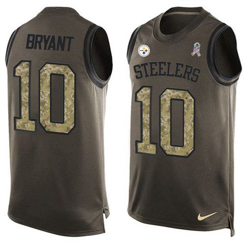 Nike Steelers #10 #Martavis #Bryant Green Men's Stitched NFL Limited Salute To Service Tank Top Jersey