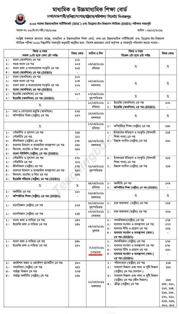 Hsc routine 2017 dhaka board - SSC Exam Result 2017 Bangladesh