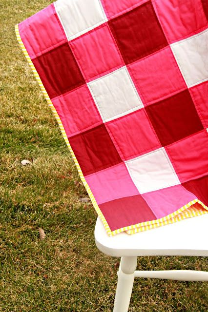 Just Another Day in Paradise: Handmade Gingham Quilt