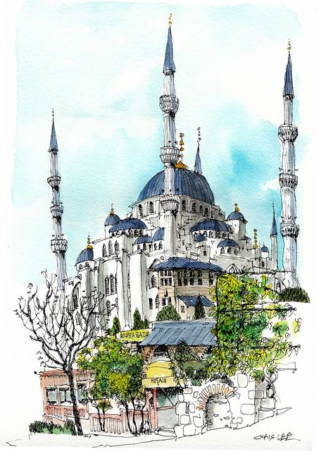 I think this.is an interesting looking building and I like the amount of surroundings included which I feel add details without swamping the main subject. Description: Blue Mosque, Istanbul | Flickr - Photo Sharing! Need to find out more about this.