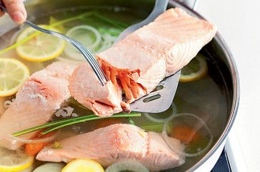 How to make perfect poached salmon by taste.com.au #Salmon #Poached #Healthy