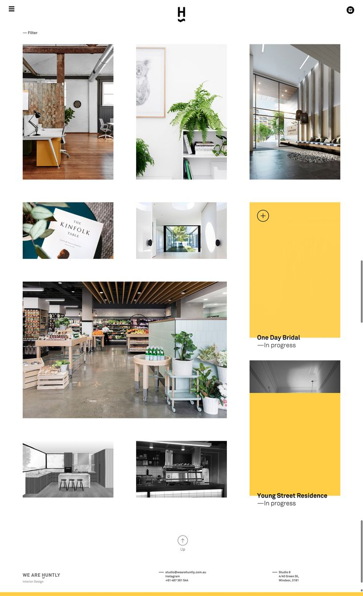 Huntly – Further example of multiple project sizes creating a dynamic layout.