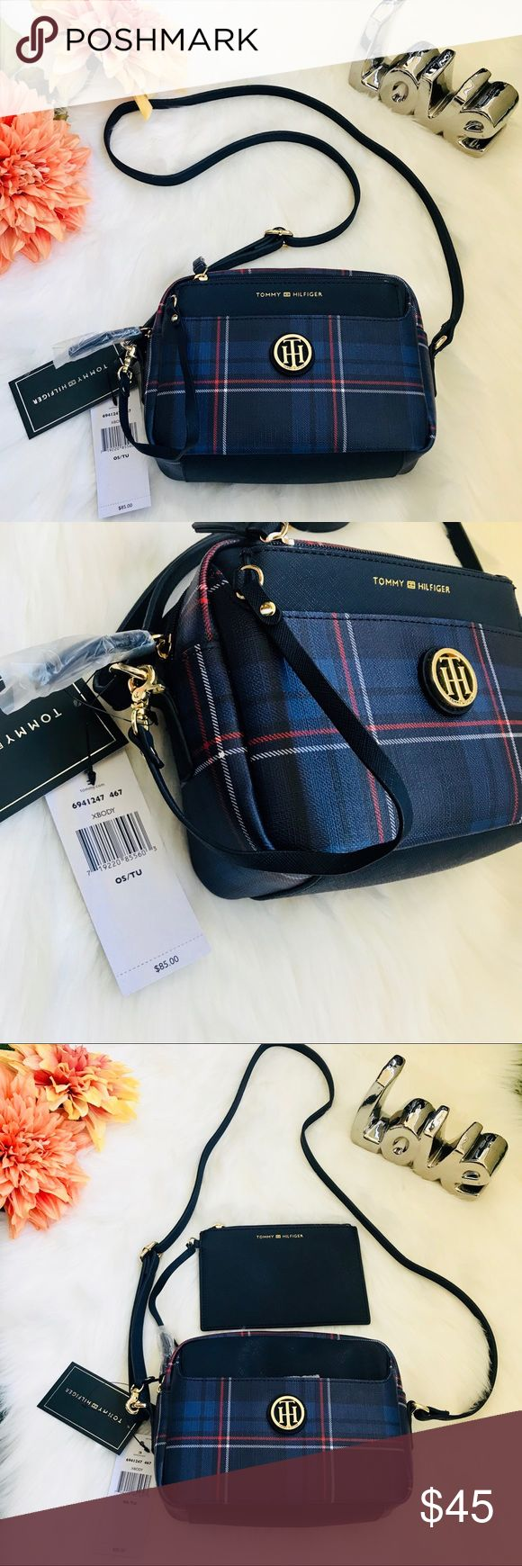 NWT Tommy Hilfiger Crossbody bag brand new vintage style Tommy Hilfiger Crossbody Bag with detachable mini wallet. Very Cute with jeans or dresses. Fits phone, wallet, make up etc. Retail $85 Tommy Hilfiger Bags Crossbody Bags