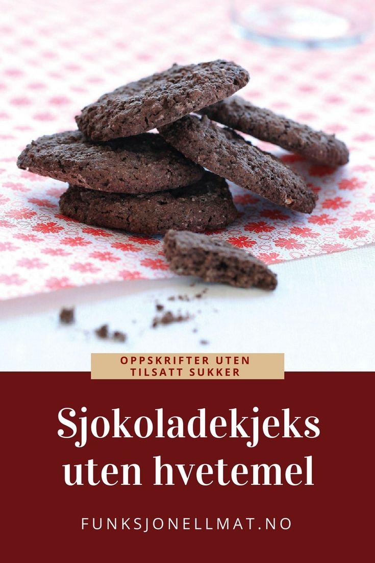 Sjokoladekjeks uten hvetemel - Funksjonell Mat | Dessert sjokolade | Oppskrift kjeks | Sunne kjeks | Oppskrift uten sukker |
