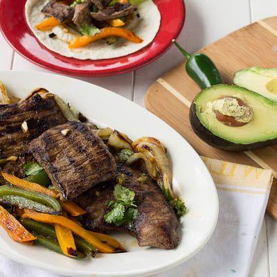 Grilled Skirt Steak Fajitas | Skirt Steak, Steaks and Steak Marinades