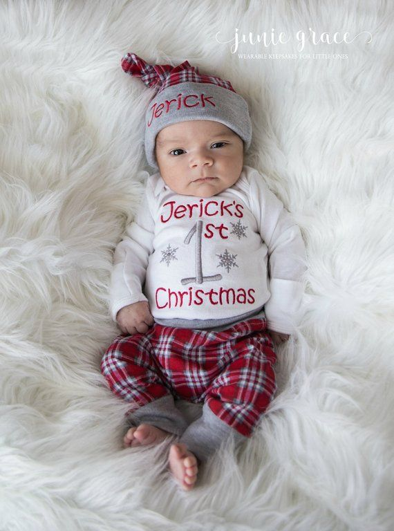My First Christmas Outfit Baby Boy First Christmas Outfit Baby Boy  Christmas Outfit Newborn Boy Christmas Outfit Personalized Christmas - My First Christmas Outfit Baby Boy First Christmas Outfit Baby Boy
