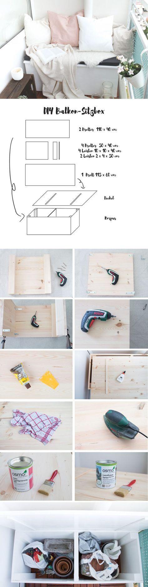 DIY-Sitzbox & Tipps für einen gemütlichen Balkon