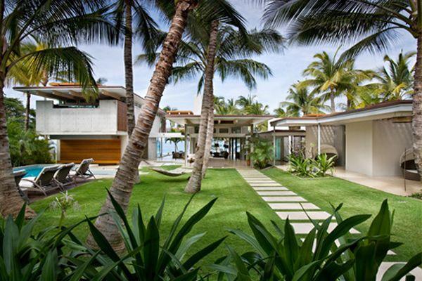 Dream Beach House In Maui, Hawaii Garden Design Steppers
