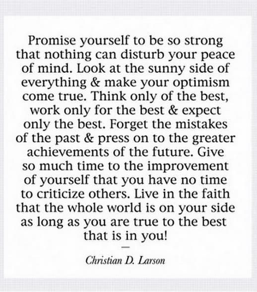 Strong Poetry Quotes: Promise Yourself To Be Strong