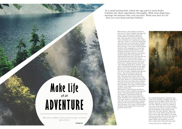 Some of my magazine layout templates _adventure