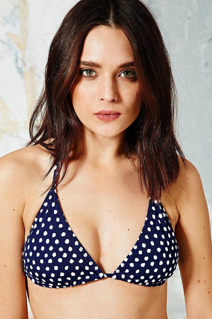 Triangle Bikini Top in Polka Dot Print