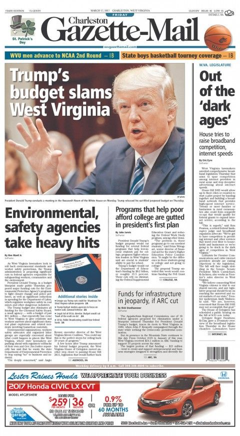 This West Virginia newspaper front page should scare Republicans - The Washington Post