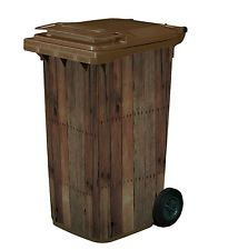 Image result for wheelie bin sticker wood