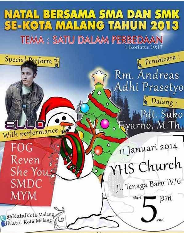 ELLO LIVE PERFORMANCE @NatalKotaMalang SMA/SMK Se-Kota Malang w/ Perform @MarcelloTahitoe HARI INI GUYS !