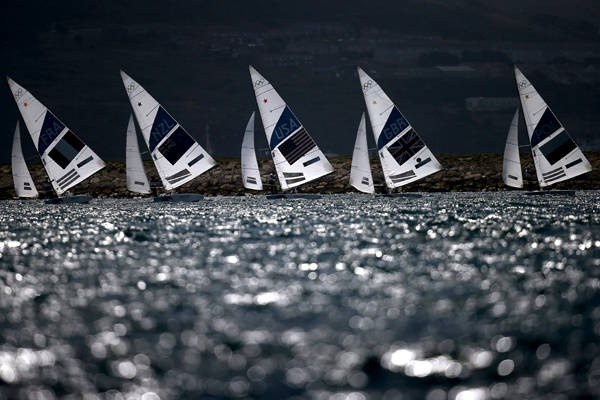 Whatever floats your boat ...                                                                                                                                  Competition begins in the men's star sailing medal race at the Weymouth & Portland Venue.