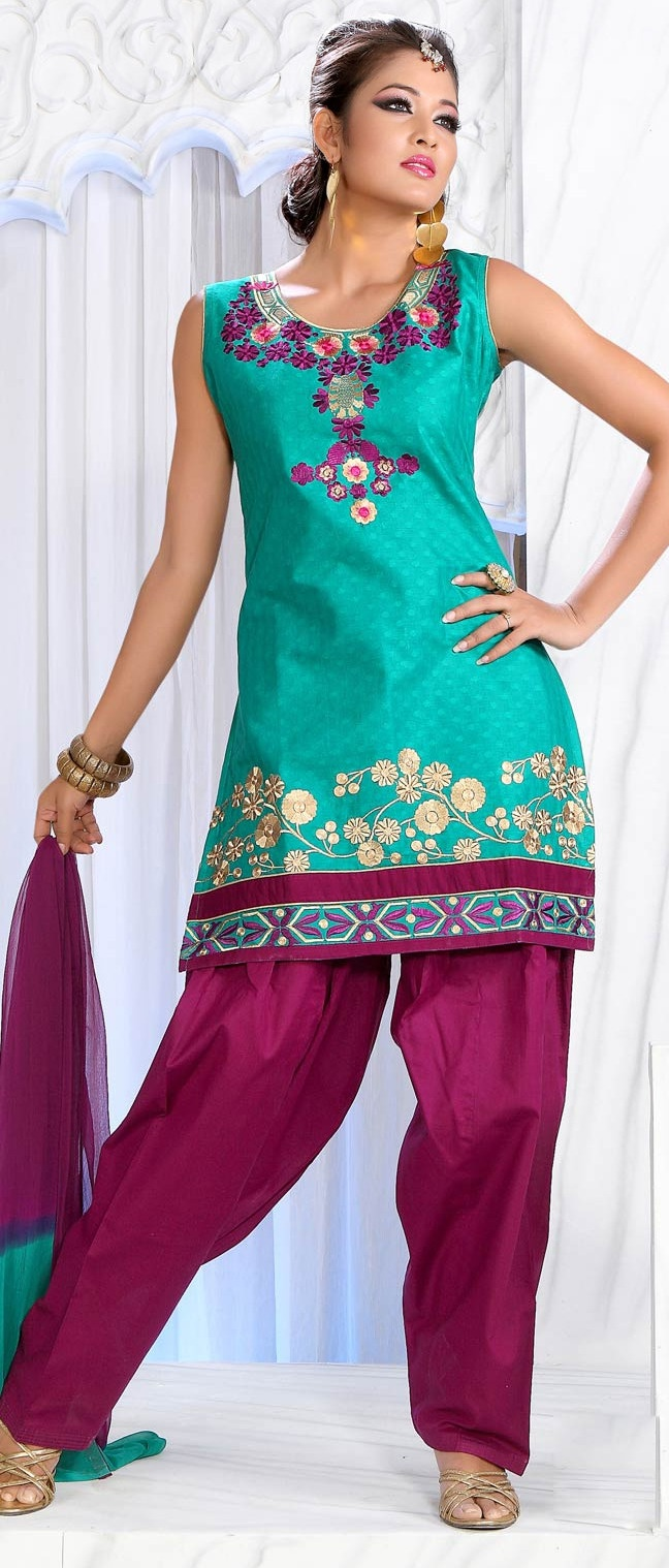 Light #Blue #Cotton Jacquard Readymade #Salwar Suit @ $63.46 | Shop @ http://www.utsavfashion.com/store/sarees-large.aspx?icode=kdu148