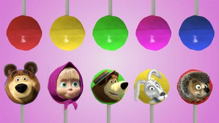 Masha and the Bear Lollipop Finger Family Rhyme - Finger Family Songs Co...