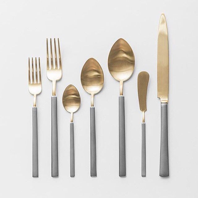 Gold and silver cutlery by Casa De Perrin #regram …