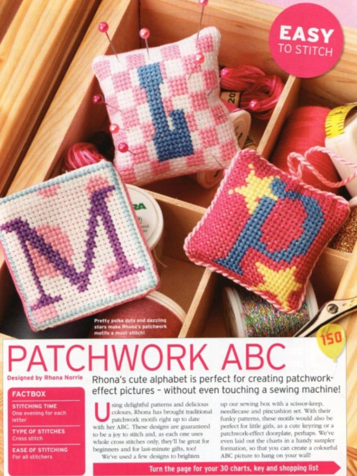 Patchwork ABC  The World of Cross Stitching Issue 150 May 2009 Saved