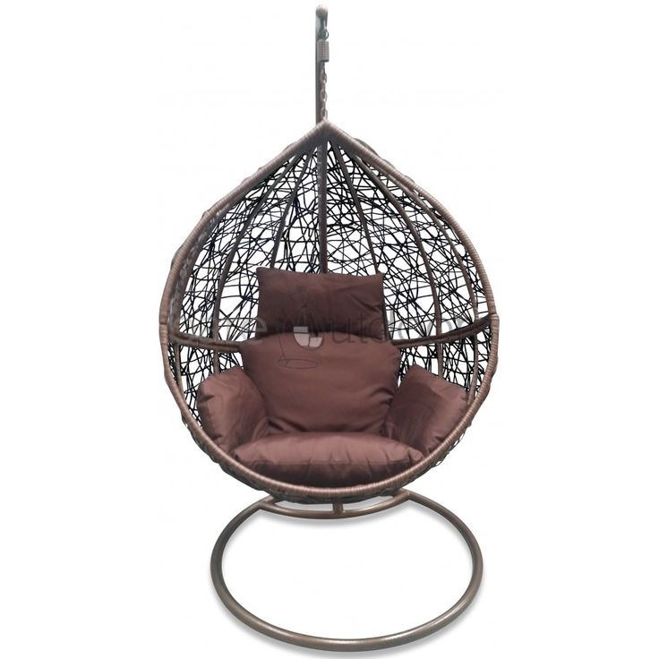 outdoor hanging ball chair chocolate brown