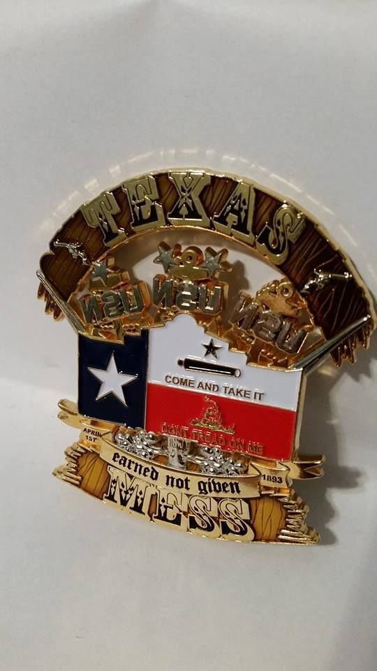 SAN ANTONIO TEXAS CPO CHIEF MESS CHALLENGE COIN | Military ...