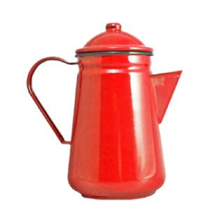 <strong>Falcon Enamel Coffee Pot Red 13cm</strong>. Sturdy enamel tableware range, for all occasions. Vitreous double coated enamel. Free Delivery on orders over £50.00.