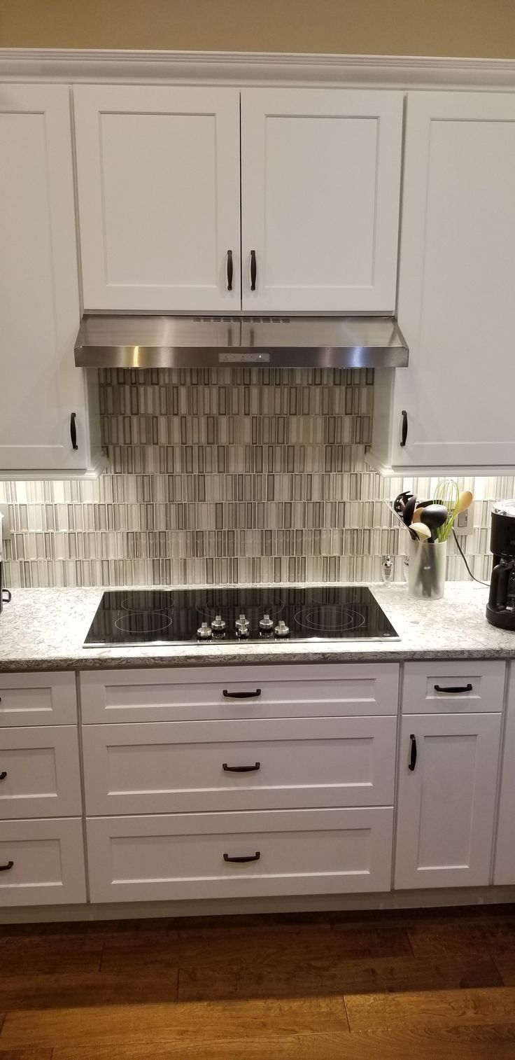 Walsh Kitchen After White Shaker Cabinets Cambria New