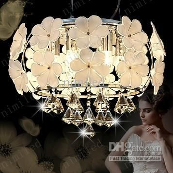 D600mm Led Crystal Light Moderne Unbedeutende Ceilight Leuchte Kronleuchter Fowers Für Wohnzimmer Restaurant Schlafzimmerleuchten Von