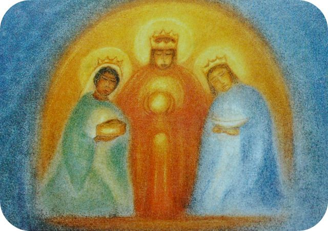 the three holy kings have found the star,    they eagerly follow - it leads them far.    wherever the star shines, love must abide...    then true thoughts can enter and in us reside.