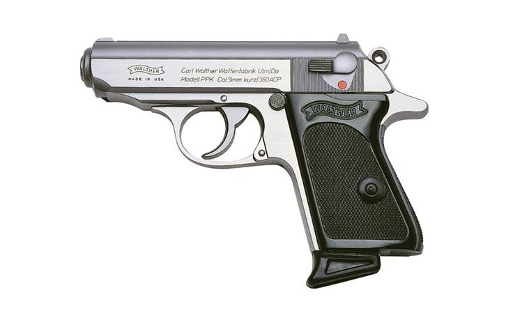 PPK - Walther Arms, in 22lr and 380 acp, Walther produces several rim fire weapons built on the same frames as their big brothers.  This allows you to put rounds down range and become a more proficient shooter.  But always train with the weapon you will carry, rounds down range.