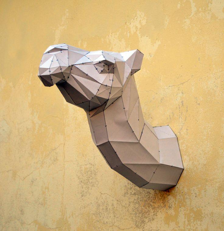 Make Your Own Camel Sculpture. | Camel Papercraft | Handmade Papercraft | PaperCraft Animal | Paper Animal | Desert | Sand | Sahara | Camel by PlainPapyrus on Etsy