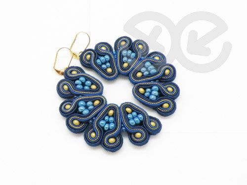 Soutache Earrings by Antidotum