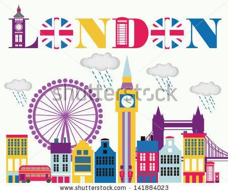 I love London card - stock vector