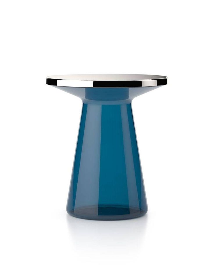 Round glass side table FIGURE by TEO Europe design Yuno design
