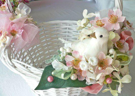 Оформление пасхальной корзины цветами: 8 фото мк