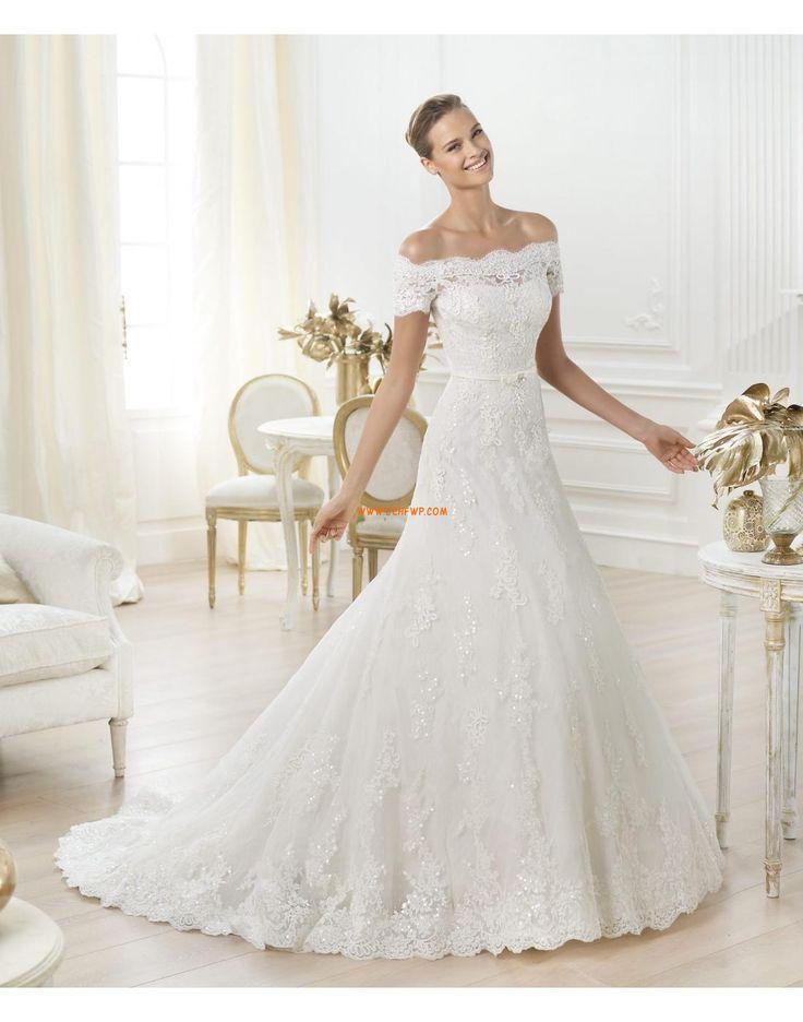 Kirche Elegant & Luxuriös Schnürung Brautkleider 2014