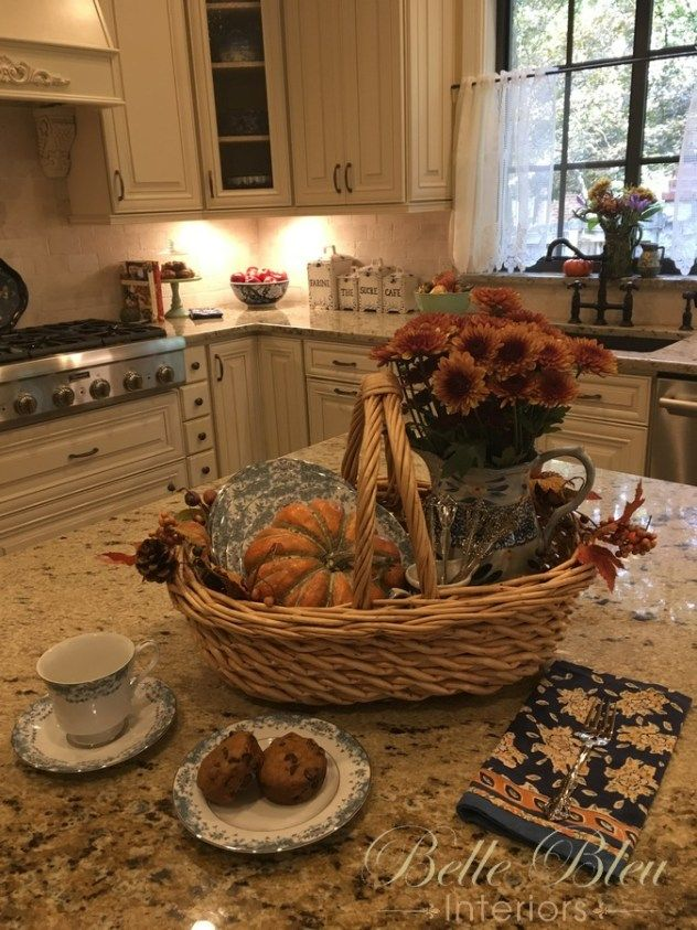 Decorating With Baskets And A Fall Kitchen Tour Fall Kitchen