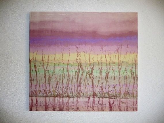 Pink Purple Abstract Landscape Silk Pastel by ArtTetisCollections, $190.00