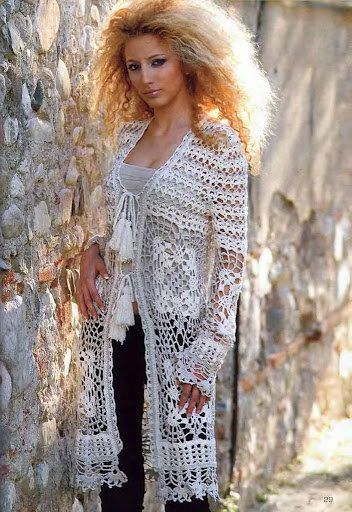 548 best Crochet long sweaters images on Pinterest | Crochet tops ...
