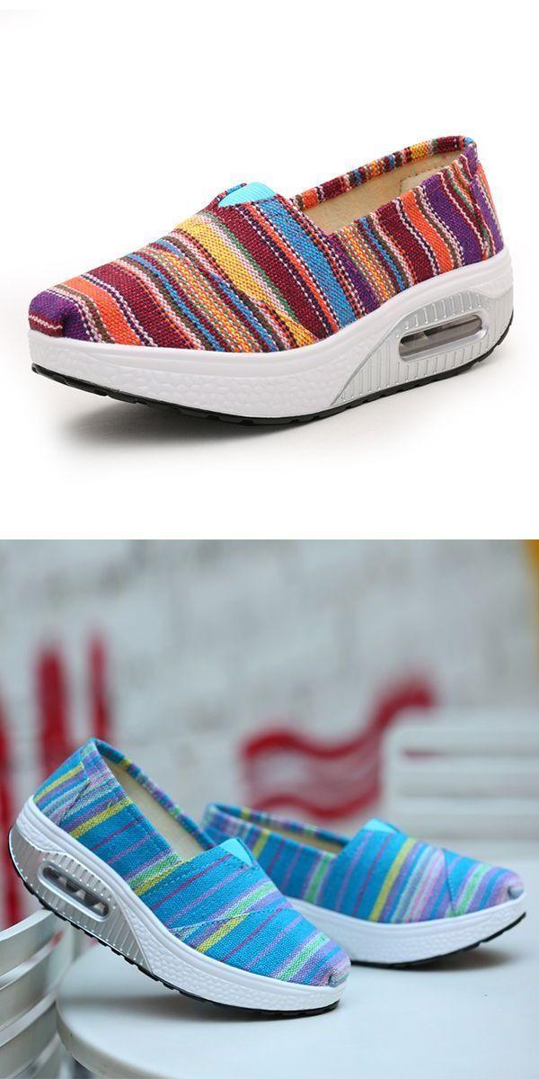 Women casual rocker sole shoes outdoor