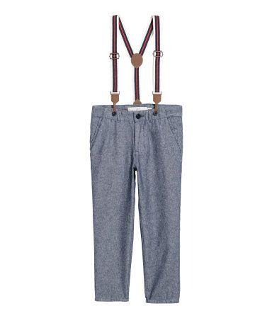 Pantalón con tirantes   Azul oscuro   NIÑOS   H&M CO