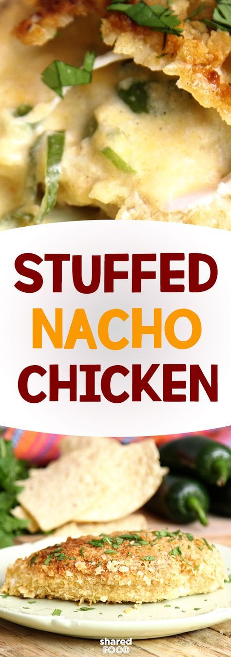 Starting with the chicken, make a small pocket and fill it up with cheese, spices and of course jalapenos! Bread the whole thing in crunchy nacho chips. Your next fiesta will be mucho yummy with the addition of Stuffed nacho chicken.