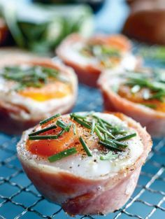 Looking for a new breakfast treat? We love these egg, bacon, mushroom and chive cups from The Foodie Teen. The 'cups' are a very convenient and quick method of cooking bacon and eggs, and they're also perfect for serving lots of people, as there's much less clean-up! Fry your eggs and bacon in cold pressed oils or coconut oil and serve with plenty of vegetables on the side.